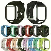 Silikon Armband Uhrenarmband Watch Band FürTomTom Runner 2&3/Spark 3/Golfer2 Uhr