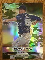 #/199 🚨2015 Panini Prizm Camo #198 Trevor May Rookie