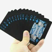 Waterproof Plastic Poker Playing Cards, Black Diamond PVC Poker Table Home
