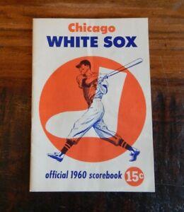 1960 CHICAGO WHITE SOX VS NEW YORK YANKEES BASEBALL PROGRAM MANTLE MARIS FOX ++