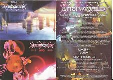 (RAVE FLYER 2003) antiworld @ Stratford. London. Lab 4.K-90. Druide