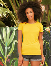 LADIES Fruit of the Loom T-SHIRT (21 Colours) 100% Cotton, Lady Fit Original Tee