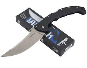 Cold Steel Talwar Lockback Folding Knife Upswept Blade Black G10 Handle