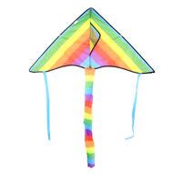 Long  Rainbow Kite Tail Nylon Colourful Delta Kite Accessory Kids Toys S wn