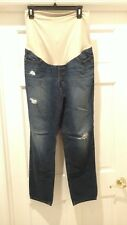80c413539136a ANN TAYLOR LOFT 8M DISTRESSED DENIM MATERNITY JEANS 29