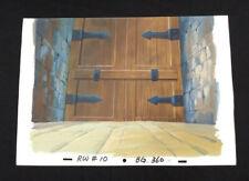 Animation Painted Background 15x11 Dungeon Walls & Barred Door Rw10 Bg360