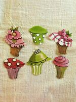 Cupcake - 6 - Iron-On Fabric Appliques.