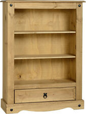 Seconique CORONA Distressed Mexican Pine 1 Drawer Bookcase