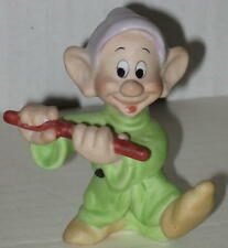 "1990's Dopey ""Playing the Flute"" Ceramic Figurine 3"""
