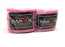 Maxx Pro Hand Wraps Pink Bandages Gloves MMA Boxing Punch Bag Muay Thai Inner