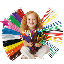 100X Mixed Color Chenille Stems Pipe Cleaners DIY Materials Kid Education Toy