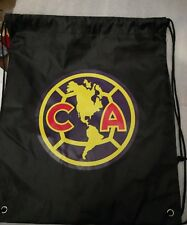 Club America soccer Sackpack Shoe Bag Gymsack Black