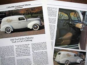 c  40 1940 Ford Deluxe Sedan Delivery Panel Truck  Info