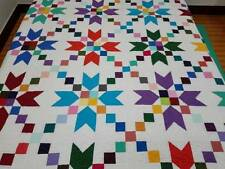 Queen  size Machine pieced and quilted QUILT#J-63Q