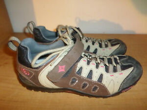SPECIALIZED BG Mountain Bike Cycle SHOES WOMENS SIZE 8.5 Brown W/CLIPS Fast Ship