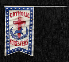 Antique 1910's Catholic Order of Foresters Paper Lapel Pin