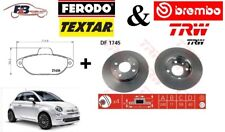 DISCHI FRENO E PASTICCHE ANTERIORI FIAT 500 (312) 1200 cc / 1400 cc / 900 cc