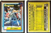 Jeff Kunkel Signed 1990 Topps #174 Card Texas Rangers Auto Autograph