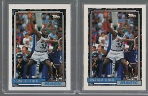 (2) 1992-93 Topps Shaquille O'neal #362 Rc Lot