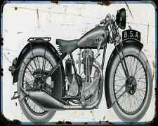 Bsa B30 01 A4 Metal Sign Motorbike Vintage Aged