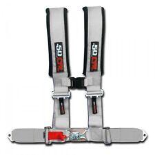 50 Caliber Racing Seat Belt Harness Silver 2in 4 Point Polaris Ranger RZR UTV RV