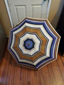 Vintage Yves Saint Laurent YSL Blue Umbrella