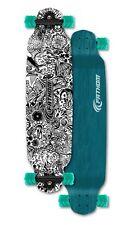 Fathom by Shark Wheel Long Drop Daydreamer Longboard Skateboard Complete, Teal