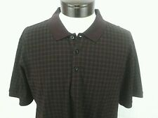 PETER WERTH Mens Burgundy/Black Short-Sleeved Polo Shirt Polka Dot XXL NWT $63