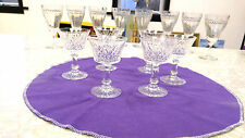 Desert or wine or after dinner glass set of 6 4 oz clear crystal pattern glass
