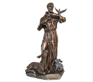 Saint Francis of Assisi Statue figurine 22cm (H)