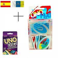 PACK DE CARTAS UNO H2O PLASTIFICADAS Y CARTAS DE UNO FLIP CARTAS DE MESA