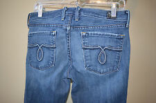 Lucky Brand Dungarees Lola Boot Cut Size 4/27 Raised Stitched 5 Pocket Jeans