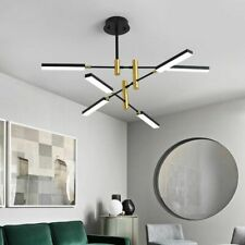 Black Iron Chandelier Bedroom Entrance Hall Kitchen Dining Room LED Lights Lamp