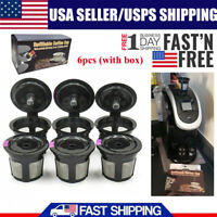 6x Refillable Reusable Single K-Cups Filter Pod for Keurig1.0 2.0 Coffee Makers