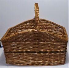 Large Cane / Wicker Basket with  handles..... (N°15) ... UNUSED