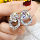 925 Sterling Silver Double Hoop Stud Earrings Womens Jewellery Anniversary Gift