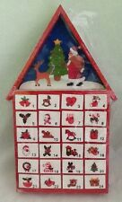 Santa House Wood Christmas Advent Calendar Holiday Countdown House Of Marbles