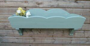wooden garden planter wall hanging box pot holder flower box display rustic