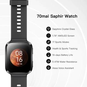 New 70mai Saphir Smart Watch Bluetooth GPS Monitor 5ATM Resistance Smartwatch