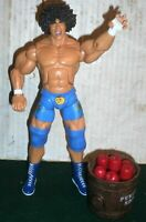 WWE WRESTLING FIGURE DELUXE AGGRESSION CARLITO WITH APPLE BARREL WWF JAKKS
