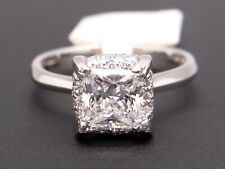 Tacori Platinum Princess Round Cut Diamond Halo Engagement Ring HT2505PR