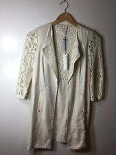 NWT CHICOS Duster Lace Mix Natural Cream  Size 0  $139
