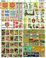 N040 DAVE'S DECALS N SCALE DECALS SALVATION ARMY MOVIE POSTER TOBACCO ADS SIGNS