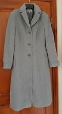 M&S Marks and Spencer Ladies Wool Coat Grey Size 12