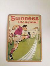 Guinness Bier - FUSSBALL TOR SZENE -  Mini Blechschild Blechkarte Irland Sign 11
