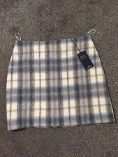 M&S Mini Skirt With Wool Checked Pattern BNWT Size 14