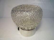 Antiguo Lámpara de Techo Cristal Vidrio Bubble Transparente Zócalo Porcelana