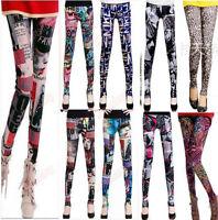 new women Punk Sexy Leggings Stretchy Pencil Skinny Pants Leopard print