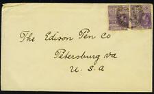 BRITISH GUIANA 1925 PAIR 2c K.GEORGE V TIED GEORGETOWN