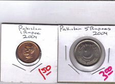 From Show Inv. - 2 UNC. COINS from PAKISTAN - 1 & 5 RUPEES (BOTH DATING 2004)